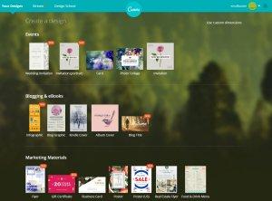 seleccionar disseny amb Canva