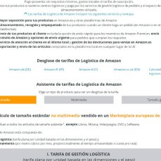 Tarifes de logística Amazon Europa