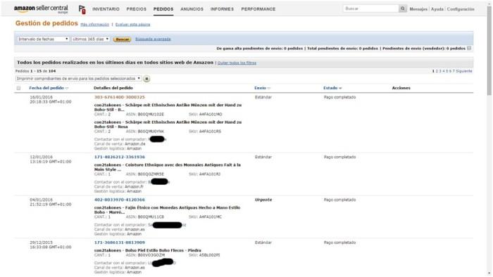 Gestió de comandes Amazon