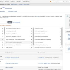 Càrrega de fitxers de productes a Amazon